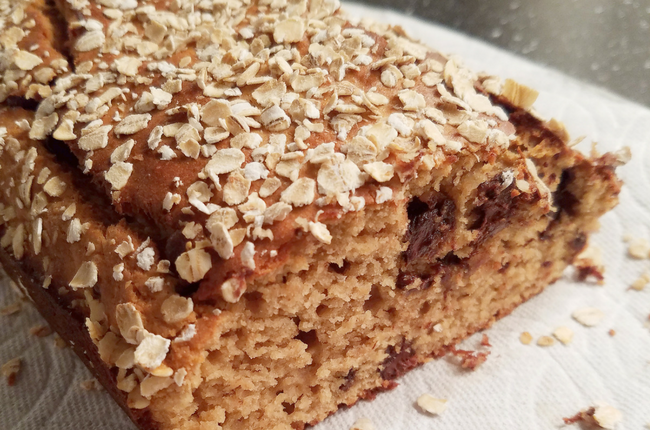 healthy protein peanut butter banana bread